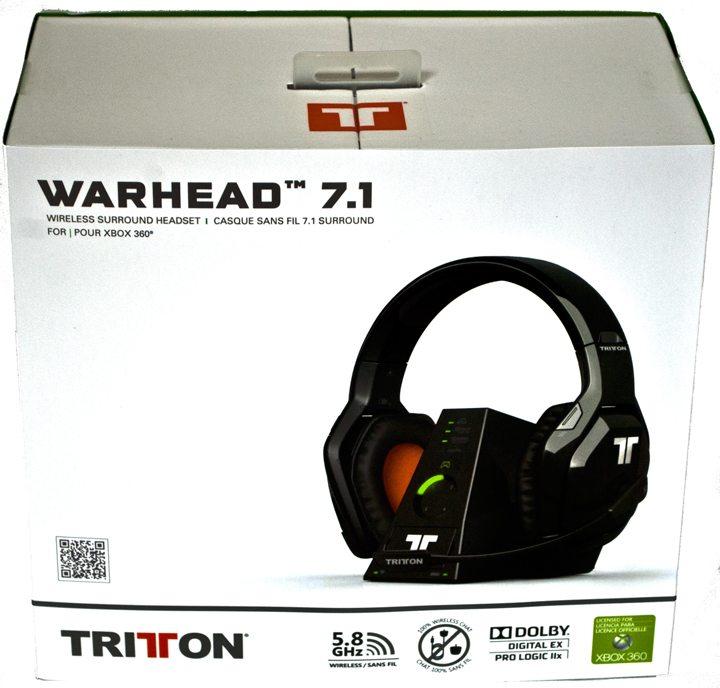 Tritton Warhead 7.1 Wireless Surround Headset Xbox 360