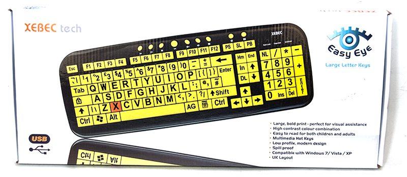 Xebec Tech Easy Eye Letter Keyboard Review