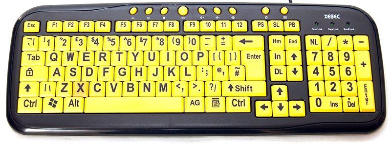 xebec tech easy eye large letter keyboard review | eteknix