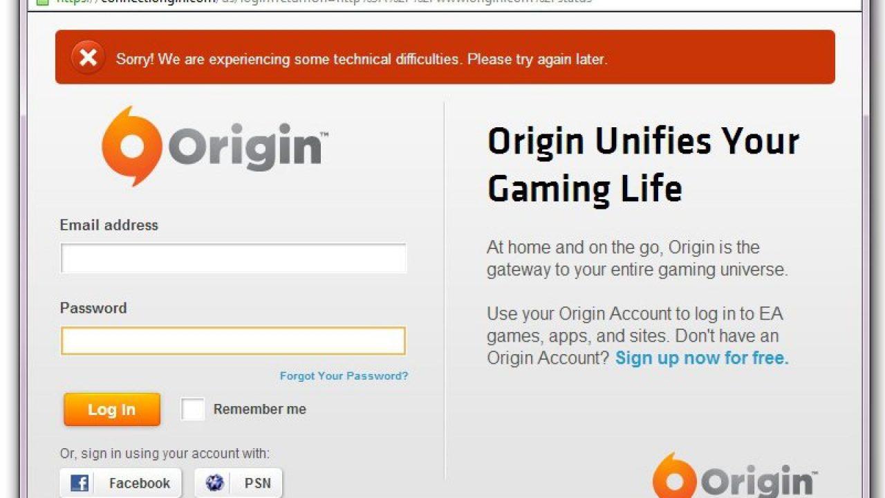 Origin Servers Offline | eTeknix