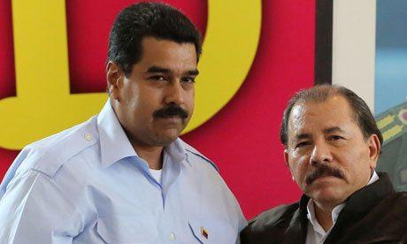 Venezuelan president Nicolas Maduro and Nicaraguan counterpart Daniel Ortega