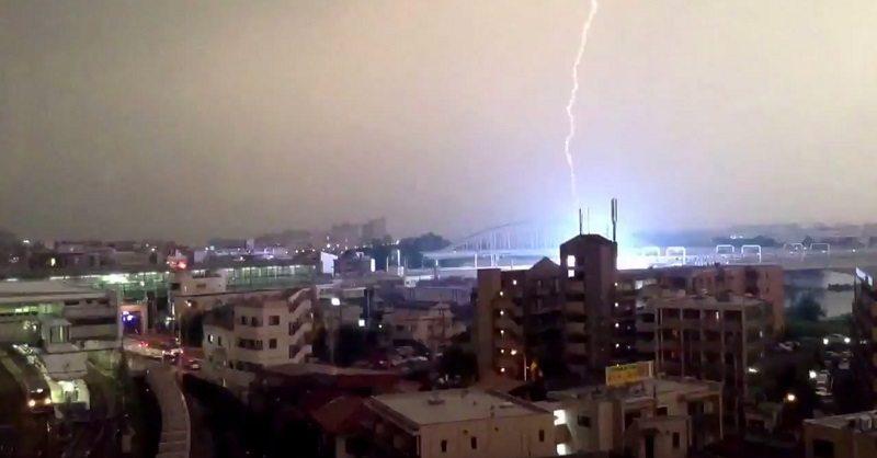japanese train struck by lightning