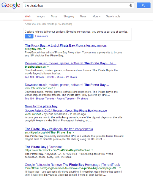 google_piratebaysx_dmca_rejection