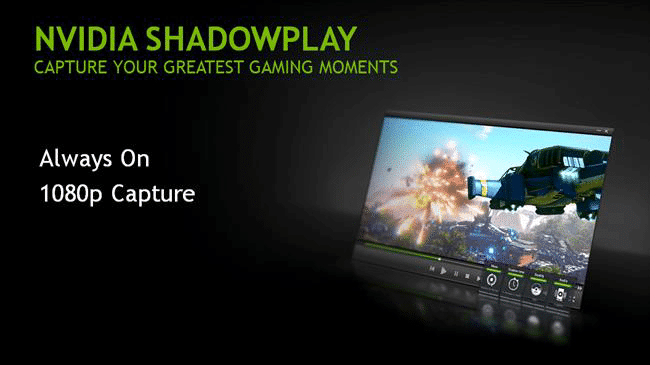 nvidia shadowplay desktop capture not working