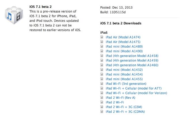 iOS 7 1 beta 2 Released For Registered Developers | eTeknix