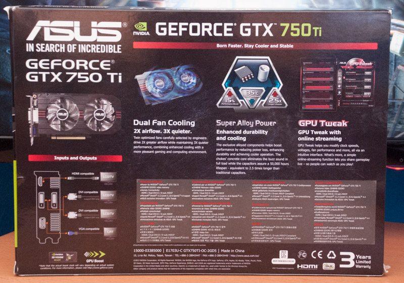 ASUS GTX 750 Ti OC 2GB Graphics Card Review   eTeknix