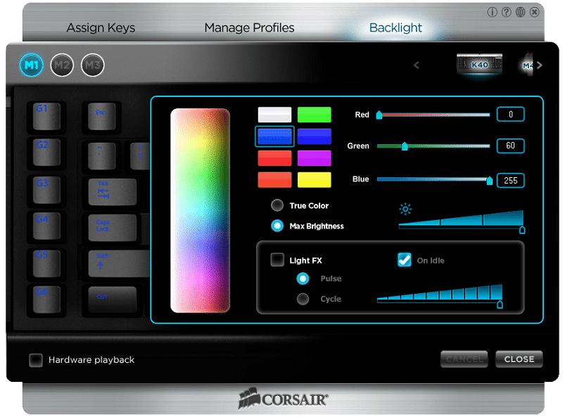 Corsair K40 Software 3