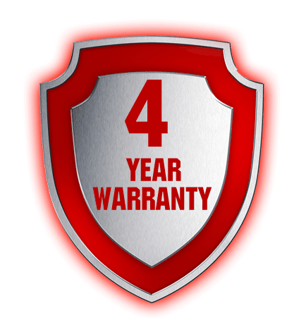 4 year warranty logo