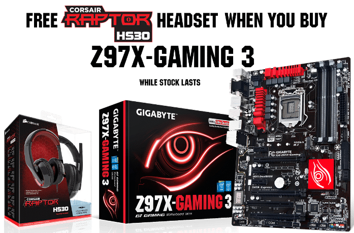 free headset with Z97X-Gaming 3