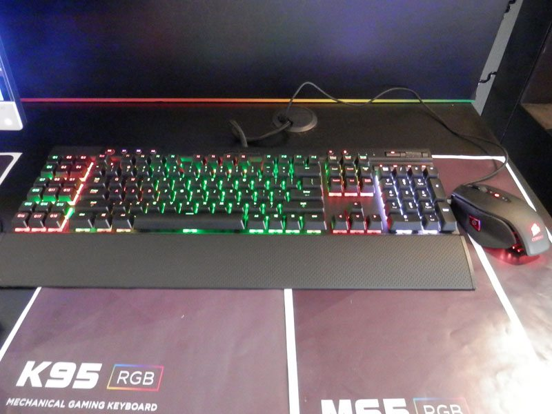RGB LED Mechanical Keyboards From Corsair at Computex 2014