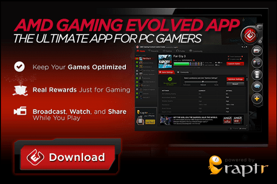 AMD Gaming Evolved App Gets H 264 Recording Feature, Fights