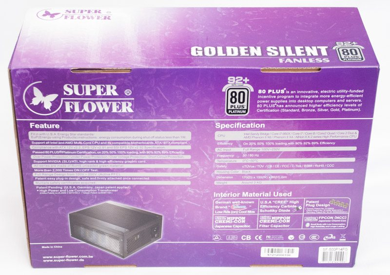 Super Flower Golden Silent 500 (2)