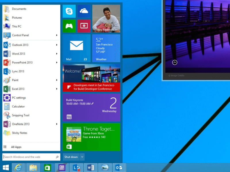 The Windows 8 Concept Start Menu