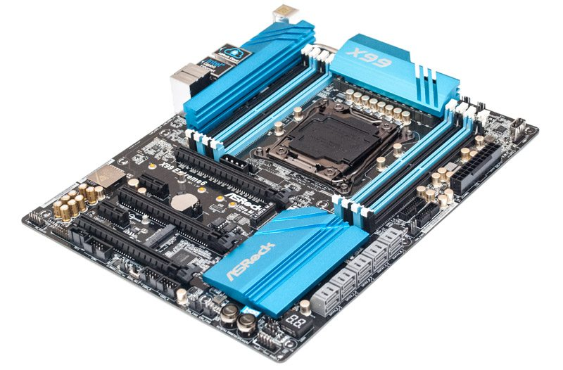 Asrock X99 Extreme 6  LGA 2011-3 Socket Motherboard Water cooler Fan VGA