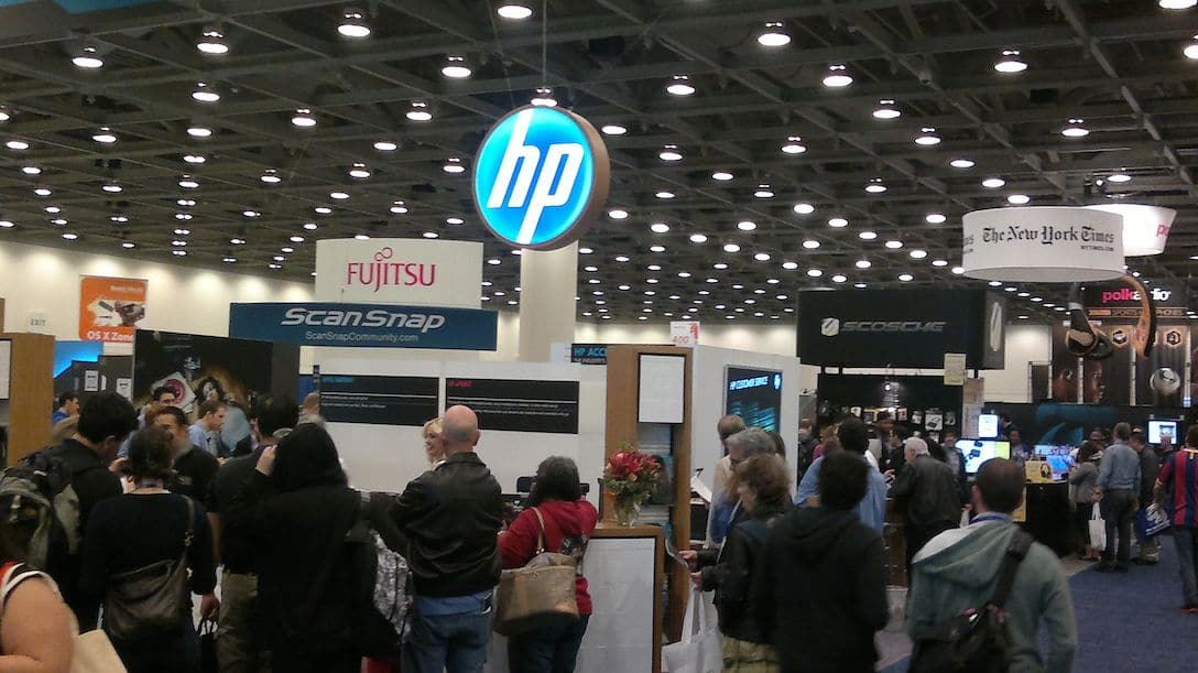 HP at expo trade show sign
