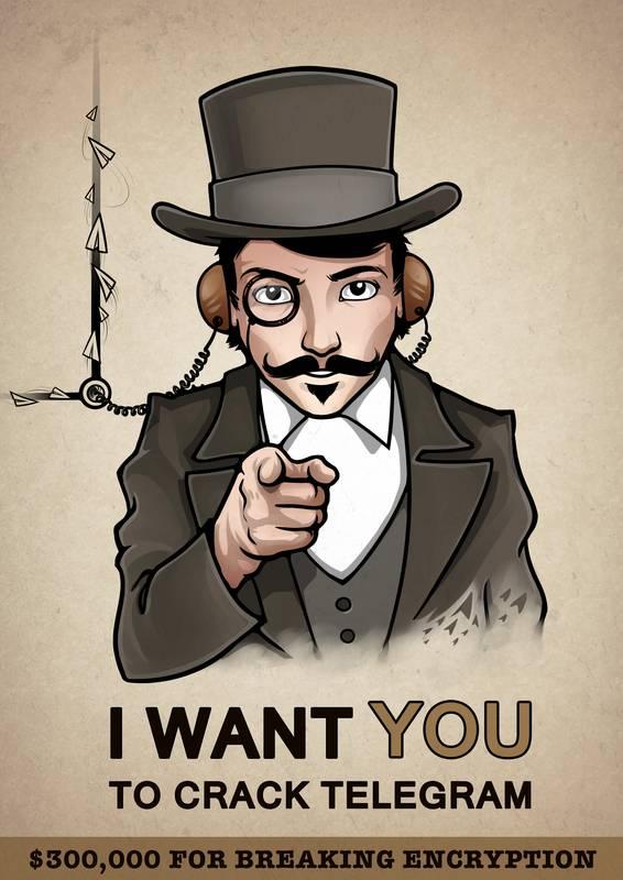 i want you to crack telegram