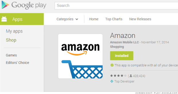 Google Pulls Amazon App From Play Store Searches | eTeknix