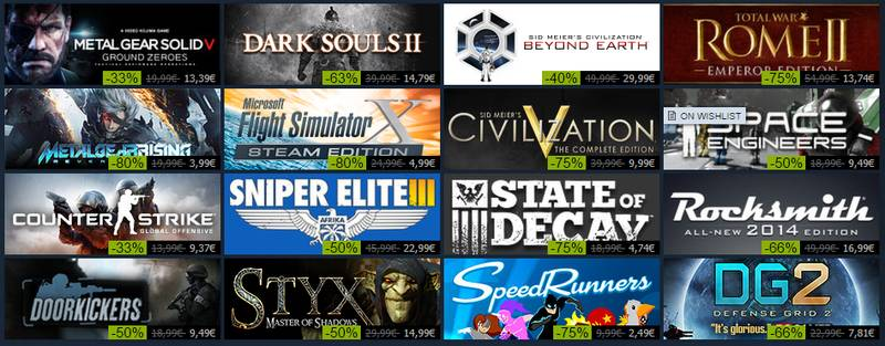 steam sale top sellers