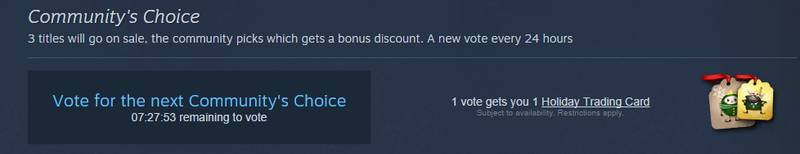 steam sale voting