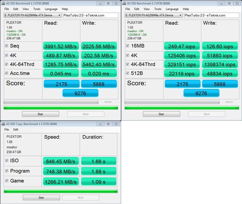 Plextor_M6e_BE-Benchmark-Turbo_ASSSD_combined