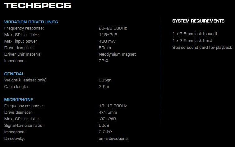 roccat headset spec