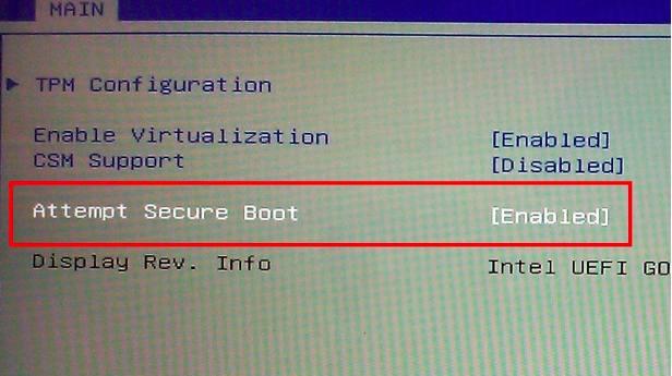 Windows sercure boot