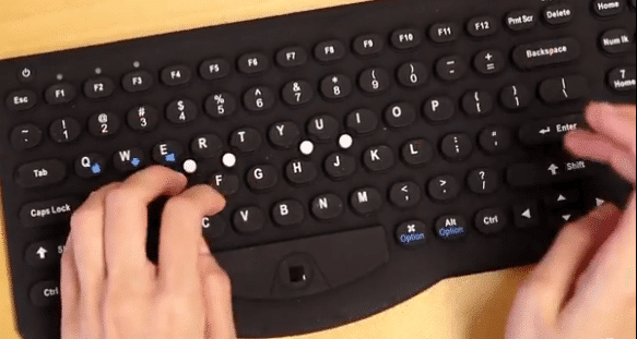 Falcon-Bluetooth-Keyboard-at-Work