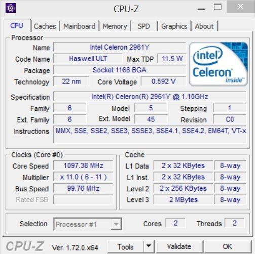 Zotac CI321 Nano - CPU-Z