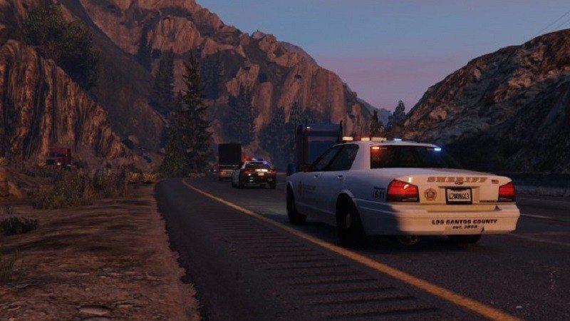 GTAV police trailer