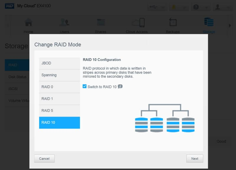 WD_MyCloud_EX4100-SSstorage-2-RAID-change