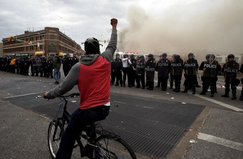 baltimore riots police - newsweek