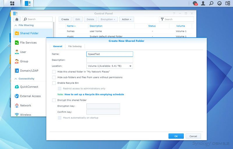 Synology_DS215p-SSshare-create