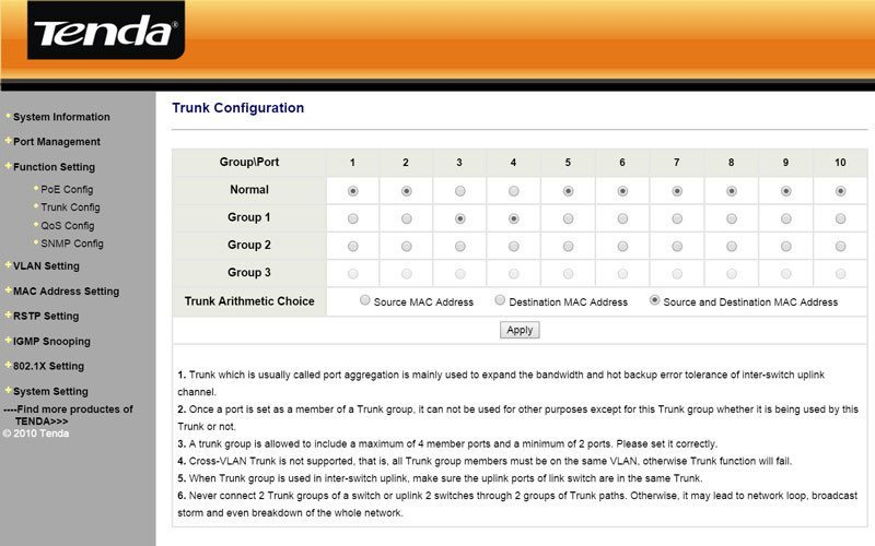 Tenda_TEG1210P-SS-09-trunk-config