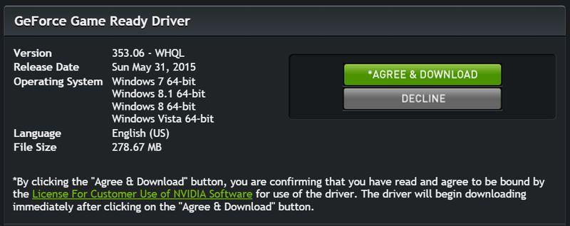 nvidia 353.06 drivers
