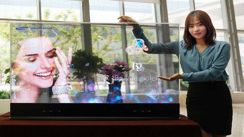 samsung displays OLED mirror