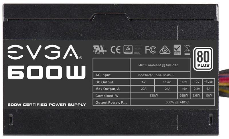 EVGA 600W 80 PLUS 3