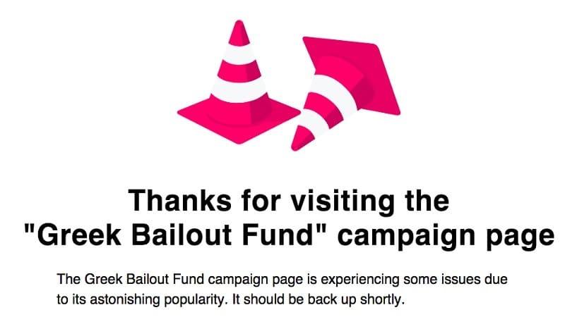 Greek Bailout Fund IndeiGoGo