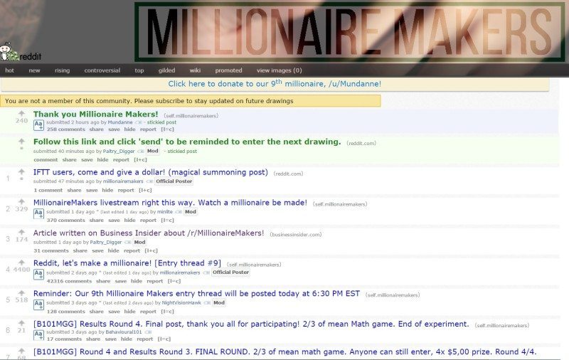reddit millionaire
