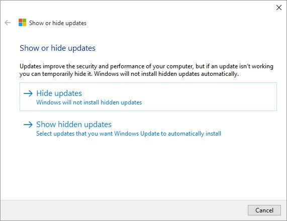 windows update troubleshooter 1