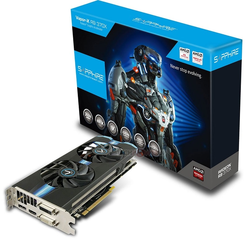 AMD R9 370X GPU Pitcarin Sapphire