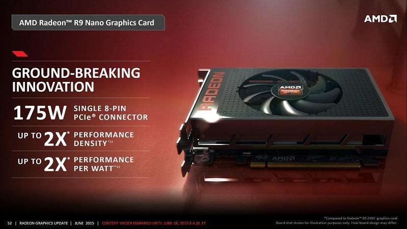 AMD Radeon R9 Fury Nano Fiji GPU