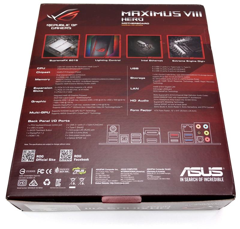 ASUS Z170 Maximus VIII Hero (LGA 1151) Review | eTeknix