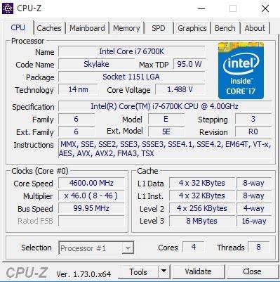 CPU-Z Chillblast Skylake