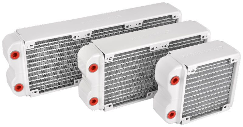 Thermaltake-Pacific-RL120,-240,-360-(White)-Radiators