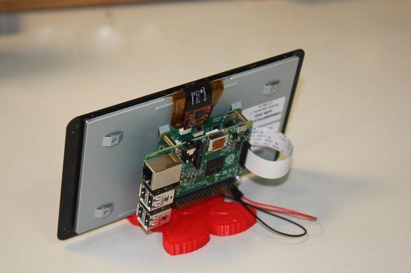 raspberry pi touchscreen mount