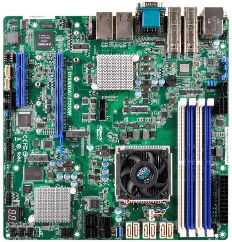 ASRock Rack D1540D4U-2T2O8R