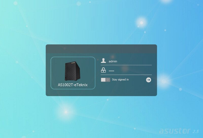 ASUSTOR_AS1002T-SS-login