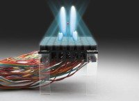 An acoustic hologram used to generate a tractor beam