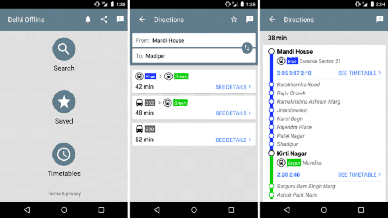 delhi public transport app google
