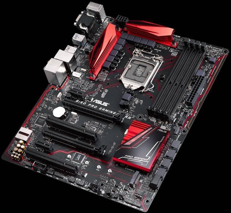 Asus B150 Pro Gaming top angle